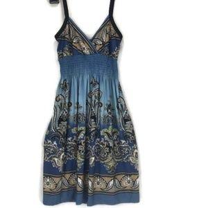 Bailey Blue Shift Dress Straps Medium